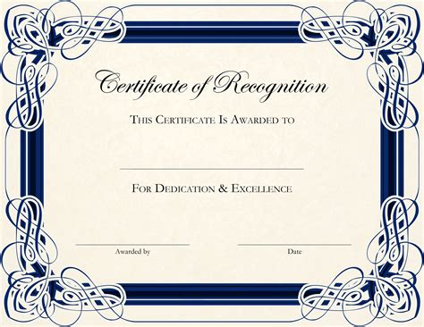 free certifications free printable certificate templates for teachers