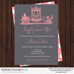 fairy tale bridal shower invitations coral wedding With fairytale wedding shower invitations