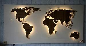 Weltkarte Bild Holz : beleuchtete holz abk hlen wanddeko weltkarte beleuchtet am ~ Lateststills.com Haus und Dekorationen