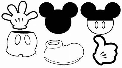 Mickey Mouse Minnie Head Coloring Clipart Printable