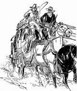Stagecoach Clipart West Drawing Drawings Western Clip Etc Sketch Wild Cowboy Stage Artwork Usf Edu Line Town Sketches Scene Story sketch template