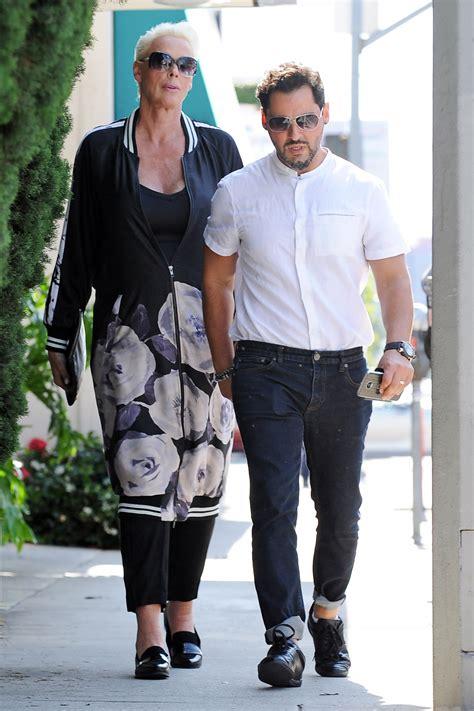 Brigitte Nielsen Steps Out with Husband Mattia Dessi