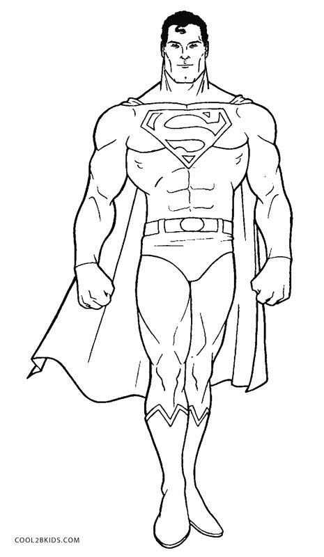 printable superman coloring pages  kids coolbkids