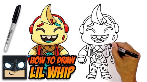 draw lil whip fortnite step  step tutorial