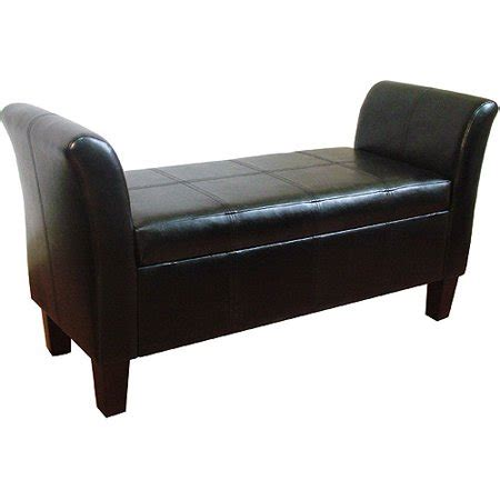 rolled arm bench mid town faux leather rolled arm bench walmart
