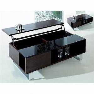 Table Basse Avec Plateau Relevable : table basse relevable kendra ~ Teatrodelosmanantiales.com Idées de Décoration