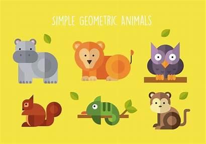 Geometric Animals Shape Simple Vector Clipart Non
