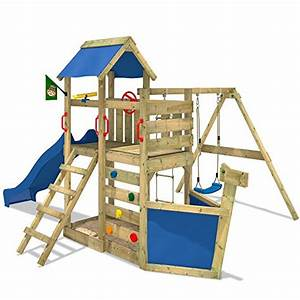 Kinder Spielturm Garten : wickey spielturm seaflyer spielger t garten kletterturm mit schaukel rutsche und viel zubeh r ~ Whattoseeinmadrid.com Haus und Dekorationen