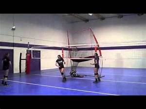 BowNet Volleyball Practice Station -- Hitting - YouTube