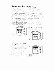 Operating  Controls  Cont U2019d    Using Your Humidifier