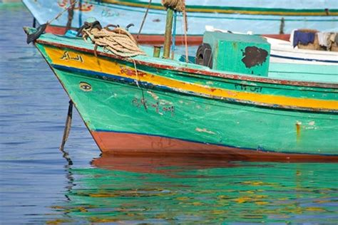 Fishing Boat For Sale Egypt by Fishing Boats In The Harbor Of Alexandria Egypt Fine Art