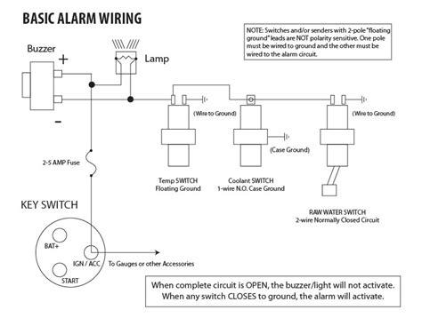 Medallion Tachometer Wiring Diagram by Basic Engine Alarm Wiring Exle Seaboard Marine