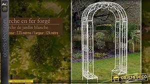 Arche De Jardin En Fer Forgé : arche ronde en m tal coloris vert clair 230 cm ~ Premium-room.com Idées de Décoration