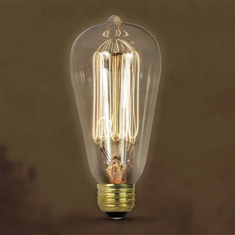 feit vintage style antique edison bulb 40w 120v st19 clear