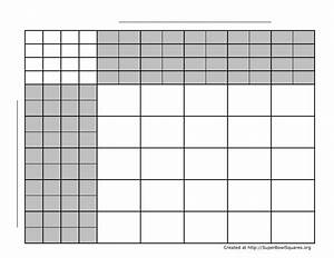 printable football squares sheets With free printable football squares template
