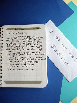 write  letter   future  activity education