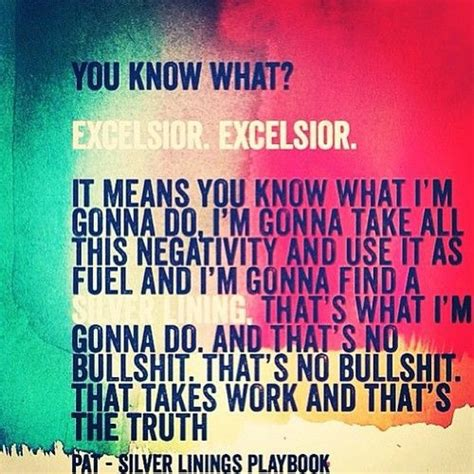 Silver Linings Playbook Quotes Excelsior