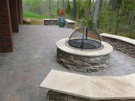 patio and firepit patio chimney fire pit fire pit design ideas