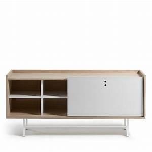 Buffet Blanc Scandinave : buffet design scandinave bois blanc mat 155x70 celia by drawer ~ Teatrodelosmanantiales.com Idées de Décoration