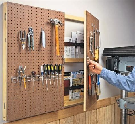 Storage Pegboard by Get Creative With Pegboard Storage Workshop Pegboard