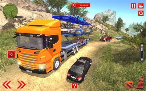 Offroad Car Transporter Trailer Truck Games 2018 For