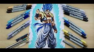 How to Draw GOGETA BLUE! Step by Step Drawing Tutorial by ...