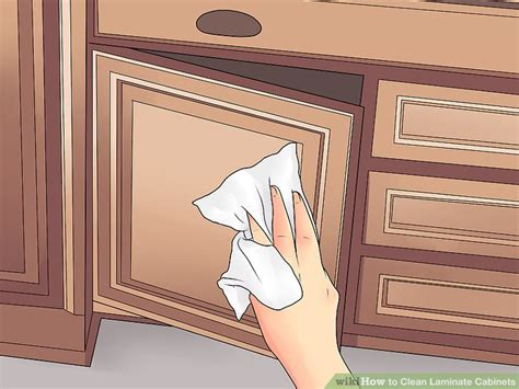 how to clean kitchen cabinets vinegar 3 ways to clean laminate cabinets wikihow