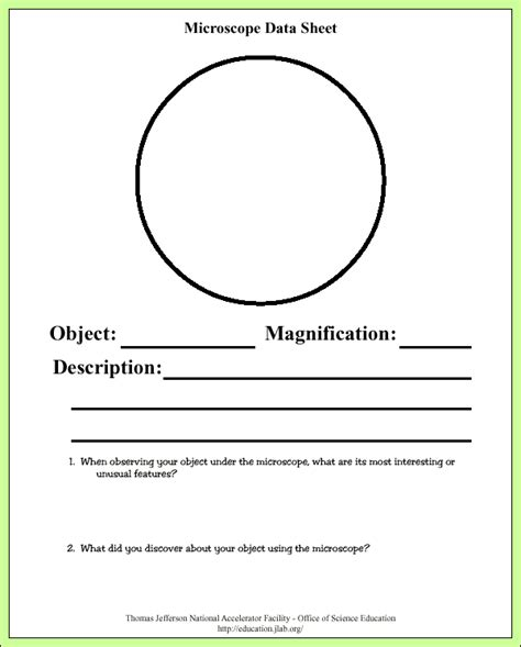 Microscope Activity Worksheets Related Keywords  Microscope Activity Worksheets Long Tail