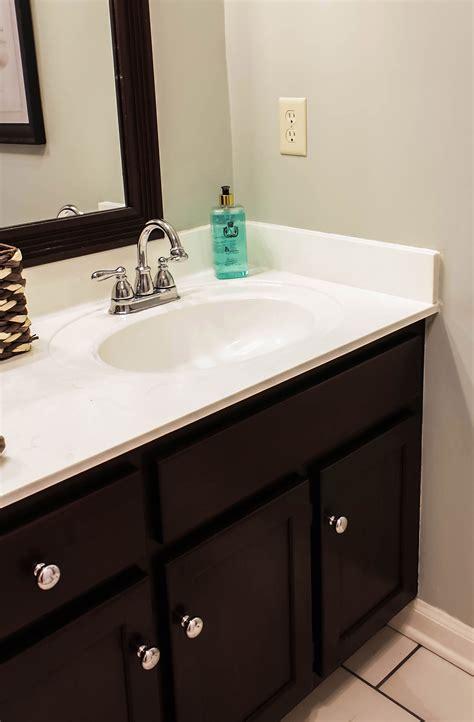 paint vanity top how to paint cultured marble countertops diy tutorial
