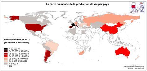 Comment On Dit Carte Du Monde En Espagnol by La Carte Du Monde De La Production De Vin Une Carte Du