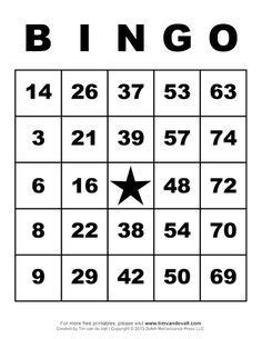 printable bingo cards  printable bingo cards bingo
