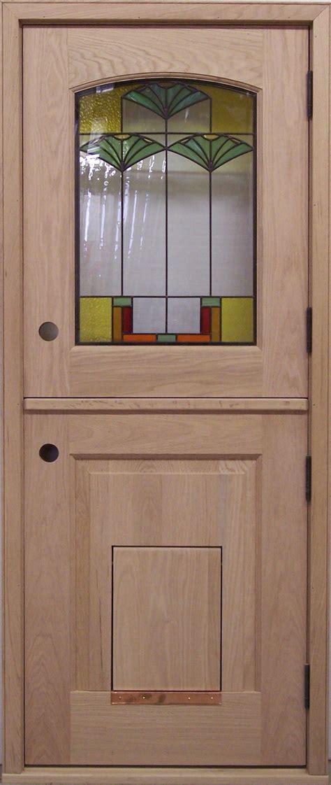 Exterior Kitchen Door With Window by Exterior Door Dd219 Glass Panel Model With Pet