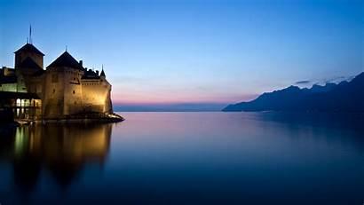 Castle France Lake Desktop Wallpapers Backgrounds Mobile