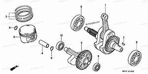 Honda Atv 2001 Oem Parts Diagram For Crankshaft Piston