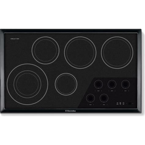 induction cooktop electrolux ew36ic60ib electrolux 36 quot induction cooktop black