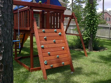 backyard playset plans apollo playset diy wood fort and swingset plans 1448