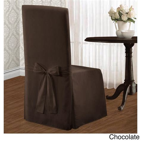 set of 2 chic modern stripe dining chair covers slipcovers