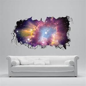 Cosmique Mur Brisé 3D Moonwallstickers
