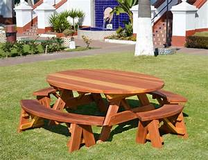 how to build a picnic table with unattached benches