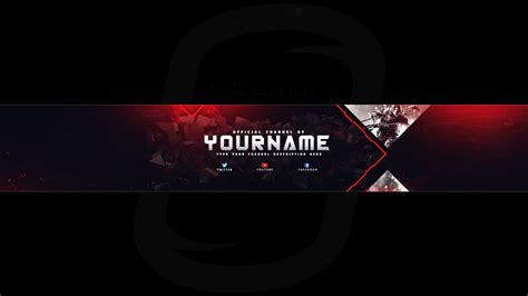 top gaming banner youtube channel art photoshop template
