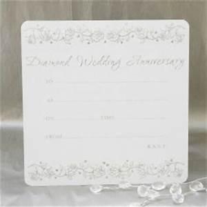 diamond wedding anniversary invitations pack of 10 With diamond wedding invitation cards uk
