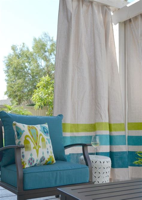 diy these easy drop cloth outdoor curtains for 50