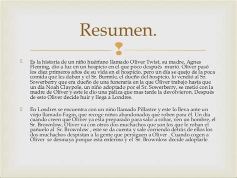 Oliver Twist Resumen Libro by Aprendiendo Juntos 10 05 16