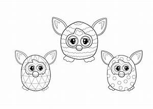 Hello Kitty Colour In Sheets Furby Coloring Pages To Download And Print For Free