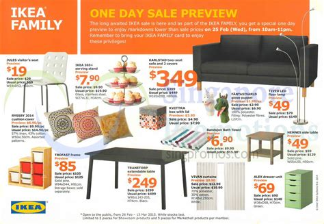 ikea si鑒e ikea sale 26 feb 15 mar 2015