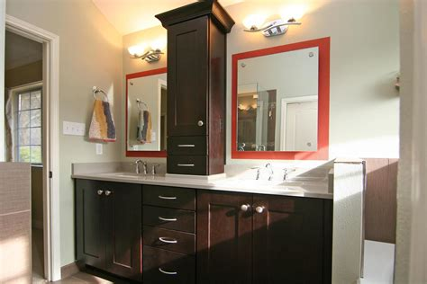 Tower Cabinet Bathroom by His And Sinks With Linen Tower Master