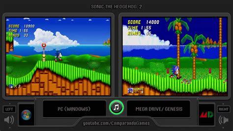 sonic  hedgehog  pc  sega genesis side  side
