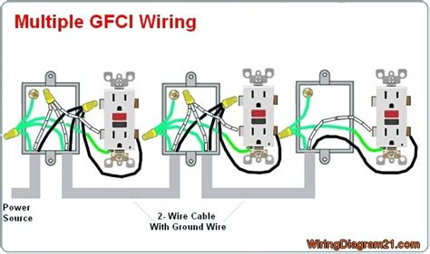 multiple gfci outlet wiring diagram electrical tips