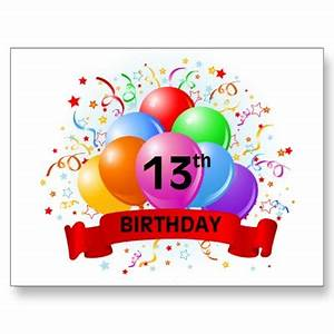 Pics For > Number 13 Birthday