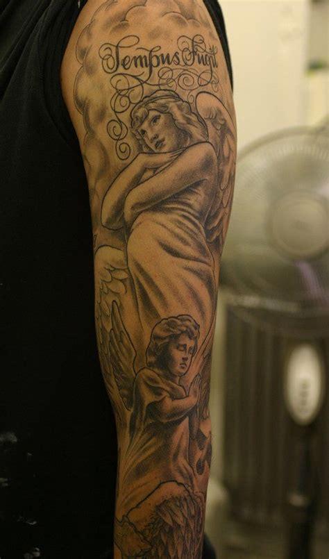 angel sleeve tattoo designs ideas  meaning tattoos